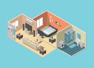 Emplacement et surface du logement