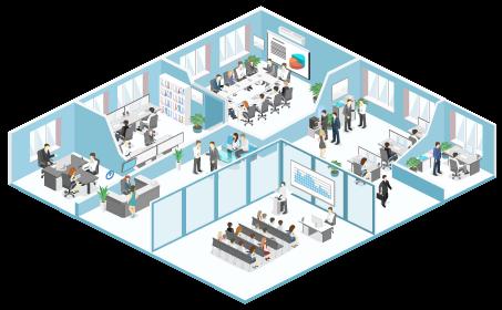 Location de bureaux & commerces